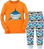 Amazon Price History for:Little Boy's Shark Cotton Pajamas Christmas Cartoon Kids Sleepwear Pants Set