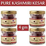 Purest & Finest Kashmiri Saffron/Kesar - 1 gm (Certified Grade - I, Premium A++, Inspired from Spanish Saffron) (1) (4 Gram 0.14 oz)