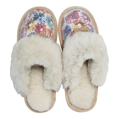 pour Mouton Chaussons Hollert Sydney Peau Pantoufles Chaussons de 6 Pantoufles Dames Modèle wT84qFxC