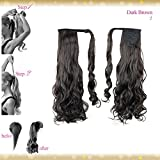 Wiwigs ® Wrap Around Clip In Pony Curly Dark Brown Hair Extension