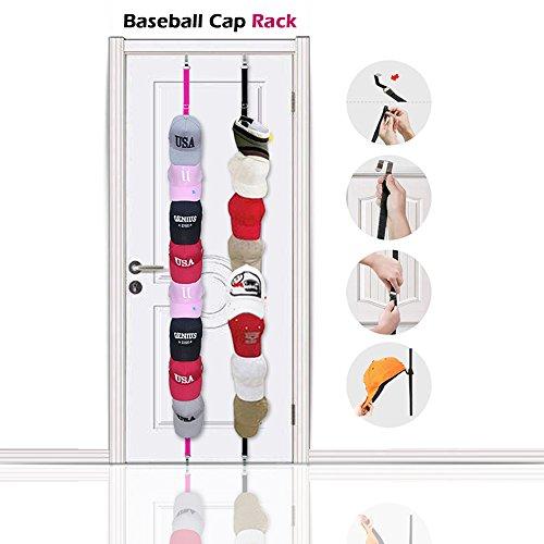 Baseball Cap Rack Storage - Sports Rack With Adjustable Hook