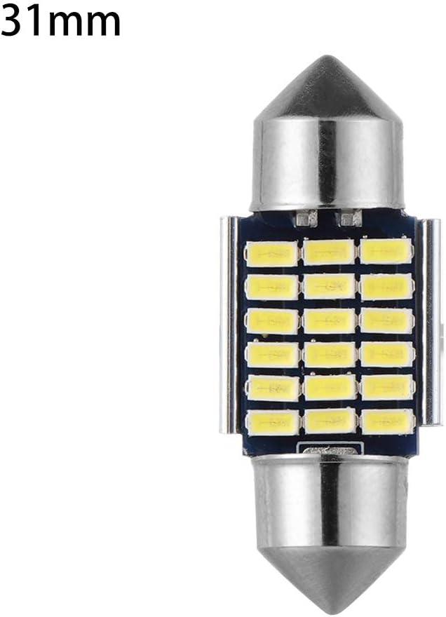 1Pc Licence Plate White 12V 3014 Festoon Bulbs Dome Light Car Reading Lamp Error Free Canbus