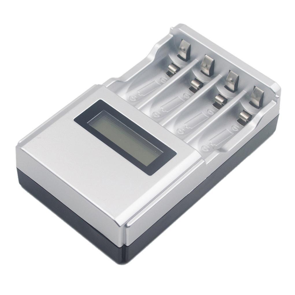 Wokee Wiederaufladbare AA und AAA Ladegerä t UK Stecker, Stunde SUPER SCHNELL LCD AA/AAA Netzladegerä t NiMh oder NiCad, mit 4 AA NiMH Akkus