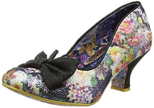 Mujer Razzle Zapatos Tacón Choicedazzle black De Metallic Floral Black Irregular BWq1X5