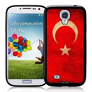 Cool Painting Flag of Turkey Grunge - Protective Designer BLACK Case - Fits Samsung Galaxy S4 i9500