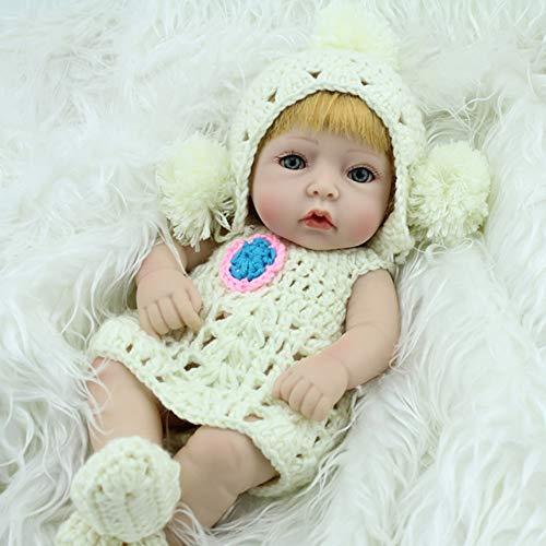EOS&HELIOS Misszhang-US 28cm Reborn Doll Cute Soft Silicone Newborn Lifelike Baby Girl Kids Gift Toy White