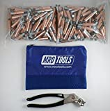 450 1/4 Cleco Sheet Metal Fasteners + Cleco Pliers w/ Carry Bag (K1S100-1/4)