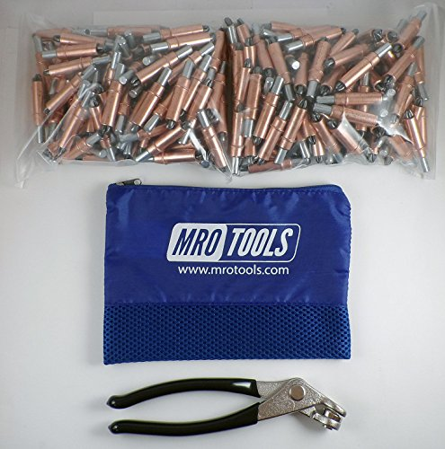 450 1/4 Cleco Sheet Metal Fasteners + Cleco Pliers w/ Carry Bag (K1S100-1/4) by MRO Tools Cleco Fasteners