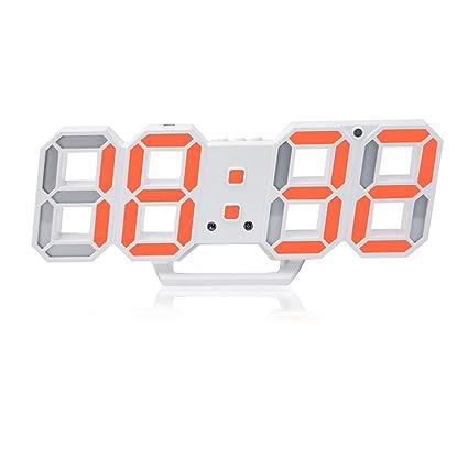 Reloj De Alarma LED 3D Digital , Con 24/12 Horas Termómetro De Pantalla Para