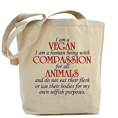 CafePress–Design sono un Vegan Tote Bag–Standard Multi-color da CafePress