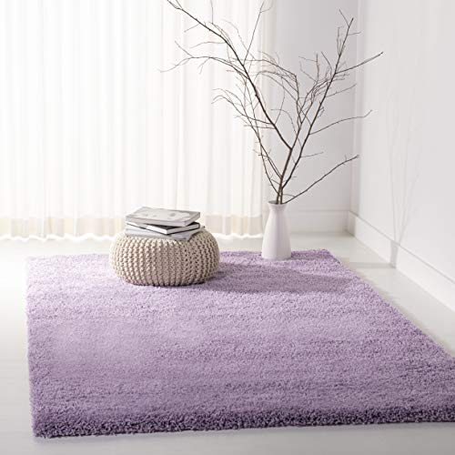Safavieh California Premium Shag Collection SG151-7272 Lilac Area Rug (4' x 6') ()