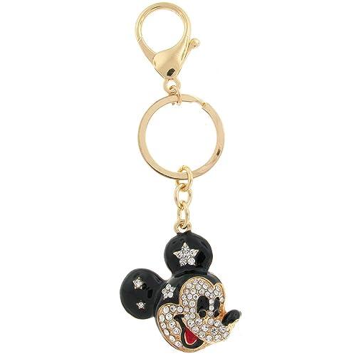 Llavero de Disney, cabeza de Mickey Mouse dorado y con ...