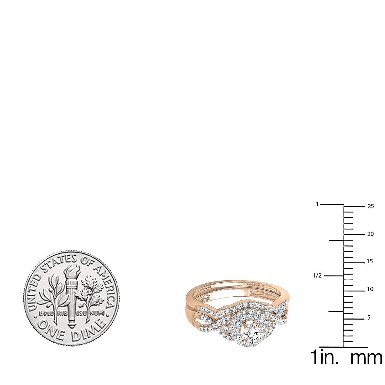 Amazon 050 carat ctw 14k gold round diamond ladies halo amazon 050 carat ctw 14k gold round diamond ladies halo bridal engagement ring set 12 ct jewelry nvjuhfo Choice Image