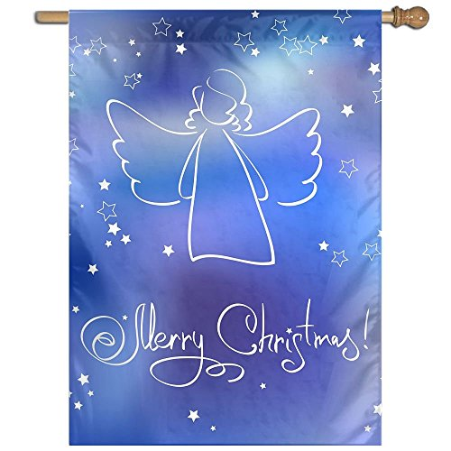 BINGOING FLAG Home Flag Christmas With Angel Outdoor Indoor Decorative Garden Flag Lawn Banner For Spring Summer 27 X 37 Inches (Christmas Angel Postcard)