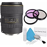 Tokina 100mm f/2.8 AT-X M100 AF Pro D Macro Autofocus Lens for Canon EOS (International Model) No Warranty+Deluxe Cleaning Kit + 55mm 3 Piece Filter Kit Bundle 2