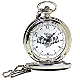 """Native American Founding Fathers Pocket Watch 12"""" Chain w/ Japanese Movement"""