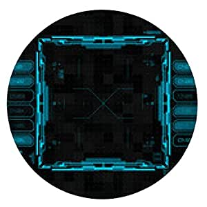 alfombrilla de ratón interfaz gráfica de usuario futurista - ronda - 20cm