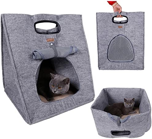 Multifuction Pet Bed Soft Dog House Portable Cat Sleeping Bag Carrier for Outdoor Travel