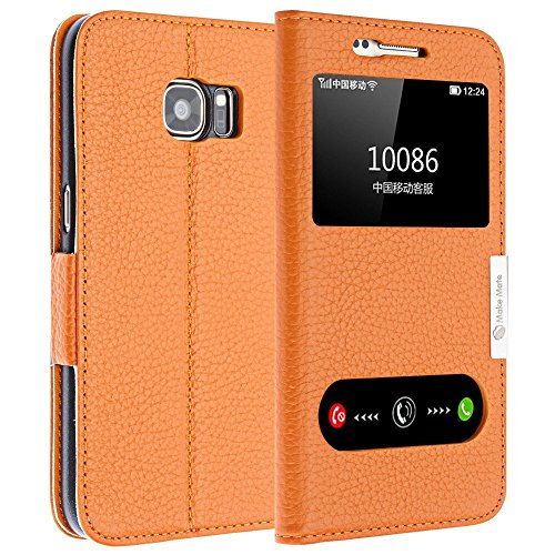 make-mate-window-view-stand-leather-wallet-case-for-samsung-s7-edge-orange