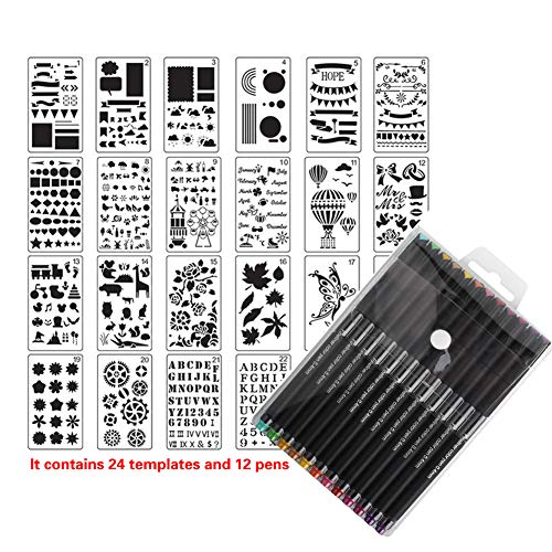 Journal Stencil Bujo Plastic Stencils can to Drawing