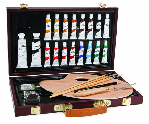 Darice 1103-082 Studio 71, 27 Piece Oil Painting Art Set, Wood -