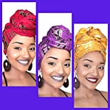 The Empress African Headwrap Collection ( 3 headwraps)