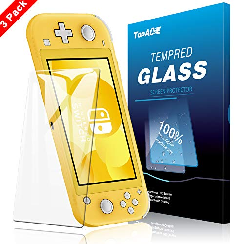 [3 Pack] TopACE for Nintendo Switch Lite Screen protector, Nintendo Switch Lite Tempered Glass 9H Hardness [Precise Size][HD] [Long Usage][Anti-Scratch][Bubble Free] with Lifetime Replacement Warranty
