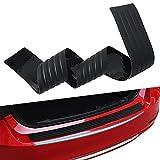 Eximone Anti-Slip Bumper Sill Rubber Protector Cover Guard Rear Trunk
