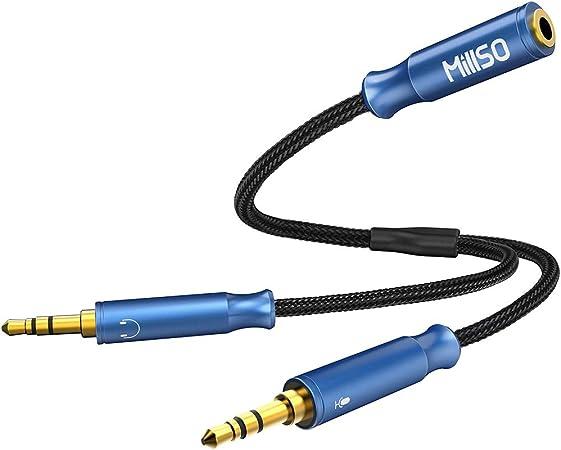 Millso 3 5mm Klinke Y Adapter 3 5mm 4 Pole Buchse Auf 3 Elektronik
