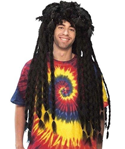 Ridiculous Rasta Brown Dreadlocks Adult Wig Jamaican Hippie Costume (Ridiculous Sexy Halloween Costumes)