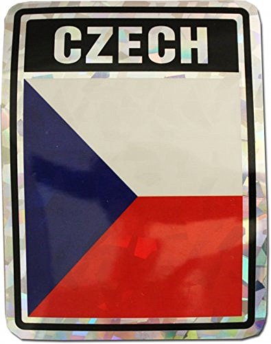 ALBATROS Czech Country Flag Reflective Decal Bumper Sticker for Home and Parades, Official Party, All Weather Indoors Outdoors
