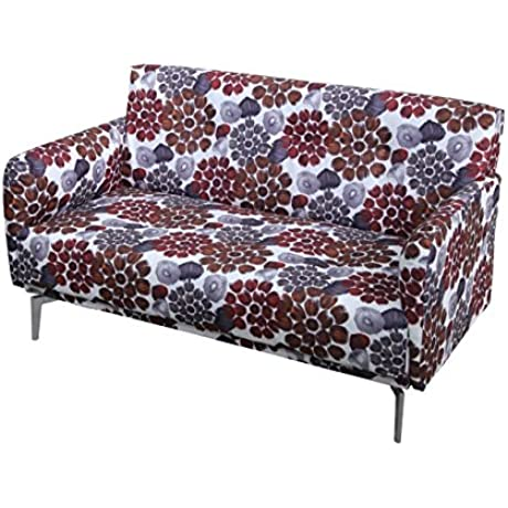US Pride Furniture S5073 Pattern Print Fabric Modern Loveseat Red