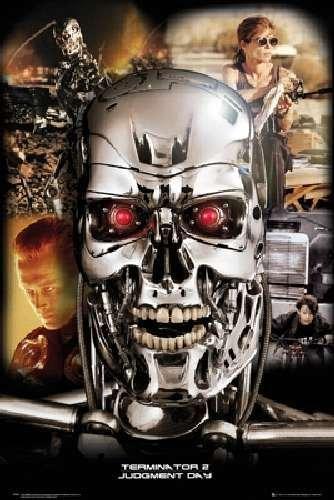 "Terminator 2 Collage Movie Poster 24""x36"" Art Print Poster"