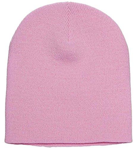 Yupoong v-flexfit Heavyweight Knit Cap rosado bebé