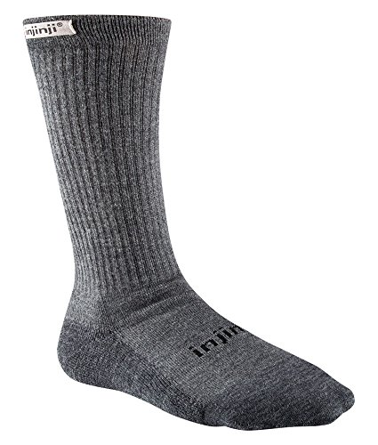 Injinji Men's Hiker Crew Socks (Large/X-Large, Charcoal) ()