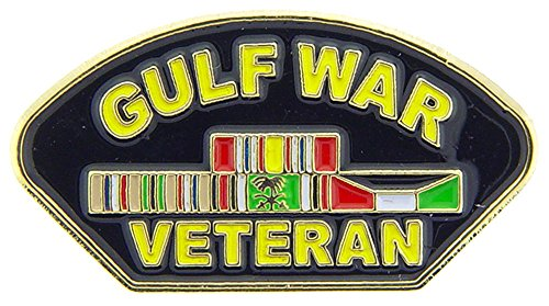 Gulf War Veteran Pin With Ribbon Military Collectibles for Men Women