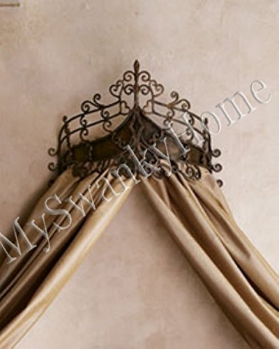 Victorian Scrollwork BED CROWN Tester Wrought Iron Cast Baroque