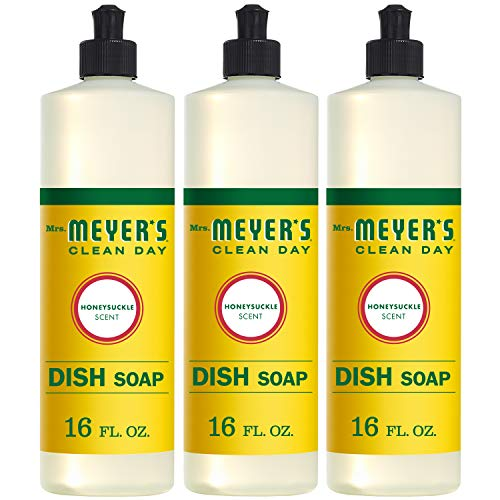 (Mrs. Meyer's Clean Day Liquid Dish Soap, Honeysuckle, 16 ounce bottle (Pack of 3))