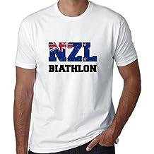 Hollywood Thread Kiwis Biathlon - Winter Olympic - NZL Flag Men's T-Shirt