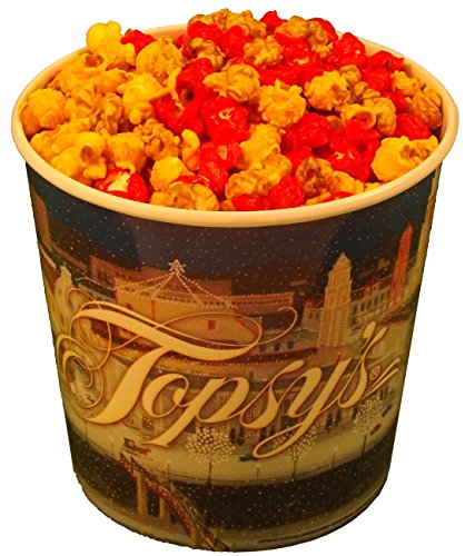 1 Gallon Popcorn Tub Caramel, Cheese, Cinnamon Mixed (Popcorn Cinnamon)