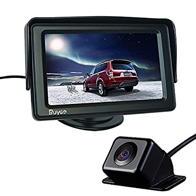 "Buyee Car Rear View Kit 4.3"" TFT LCD Monitor + Car Reversing Camera 170 Degree Angle"