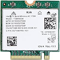 For Intel Tri-Band Wireless-AC 17265 802.11ad 80211.ac 4.7Gbps 867Mbps NGFF M2 Dual-band 2x2 AC BT4.0 Wireless Card