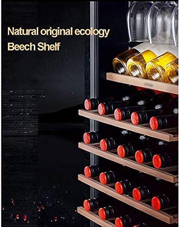 YFGQBCP 33 Botellas de Libre de pie Bodega Nevera, Vino 128L / Enfriador de Bebidas Refrigerador, con el Vino de Cristal de la suspensión, la Temperatura Constante Almacenamiento/iluminación LED, 5-