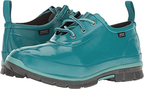 Bogs Women's Amanda 3-Eye Shoe Rain Boot, Emerald, 8 M US
