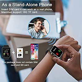 Qidoou Smart Watch Fitness Tracker (Grey)