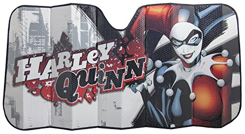 Plasticolor 003694R01 Harley Quinn Warner Brothers Urban Accordion Bubble Sunshade (Harley Sun Shade)