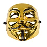 Rock 990223' Guy Fawkes Anonymous V for Vendetta Mask, Unisex-Adult, Gold/Black, One Size