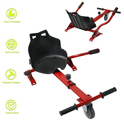 DOC Hovercart Seat Attachment Holder for Self Balancing Scooter Hoverboard Adjustable Go Kart Fun Hoverboard Accessories (RD) : Sports & Outdoors
