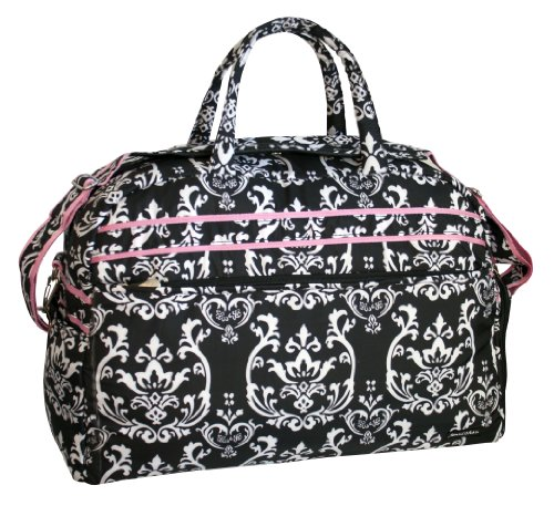 jenni-chan-damask-soft-gym-duffel-black-pink-one-size