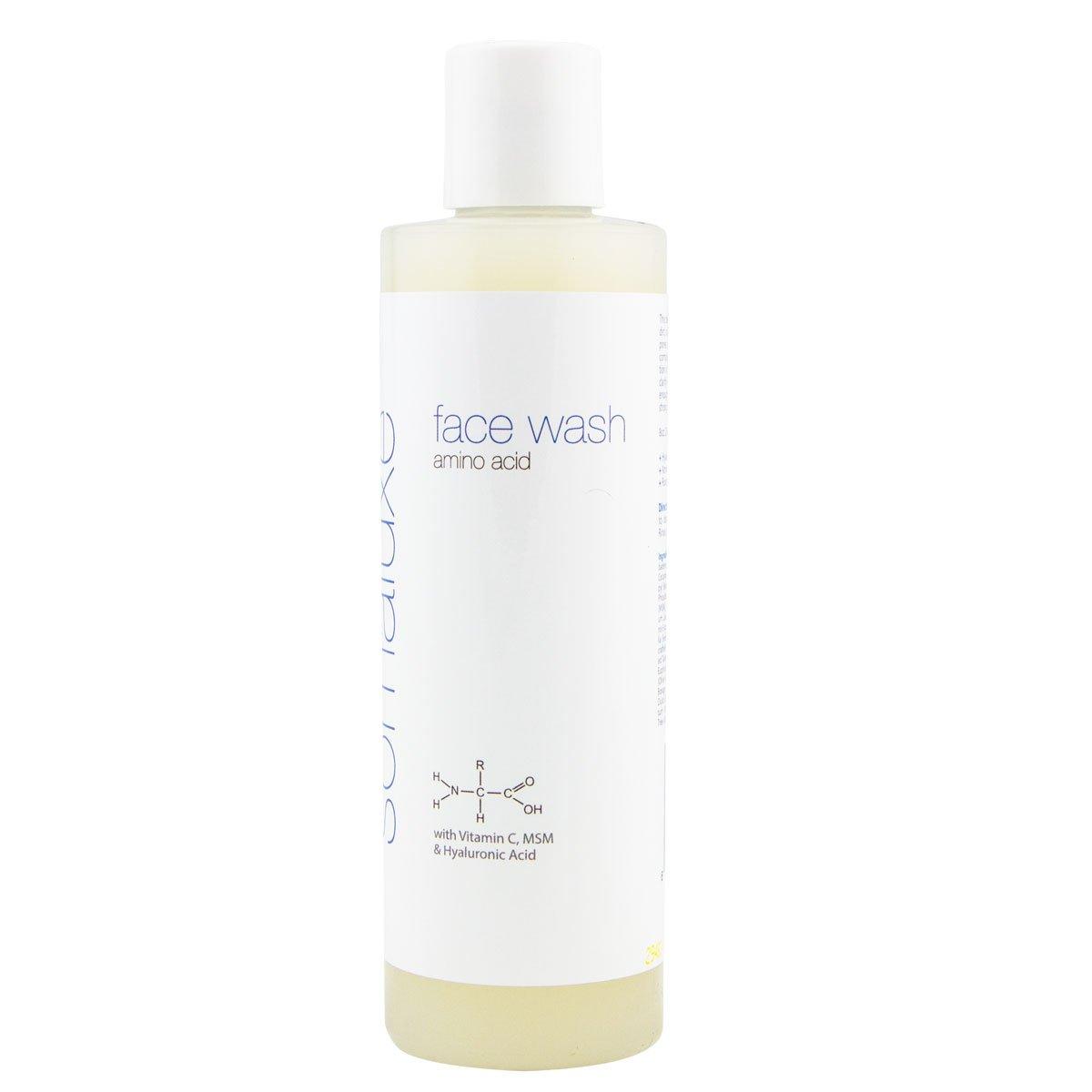 Amino Acid Face Wash for Wrinkles & Skin Damage w/Hyaluronic Acid & Vitamin C by Somaluxe